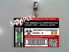 RESIDENT EVIL (Special Agent) ID Badge Great Costume Prop Halloween cosplay