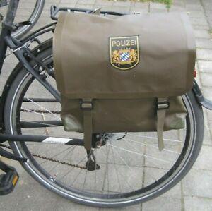 2 Fahrradtaschen Polizei Bayern München Rad Sattel-Gepäcktaschen  Schwalbe DDR