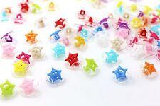 Transparent Star Shank Button Cute Clear Plastic Stars Children Baby DIY 20pcs