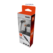 JBL T110 Harman Kardon Pure Bass Tangle Free In-Ear Headphones w/ Mic - Black