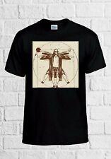 Vitruvian The Big Lebowski Dude Funny Movie Men Women Top Unisex T Shirt 2328