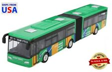 Public Transportation Articulated Model Bus Pull Back – Green 1:64