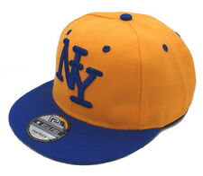 Snapback Cappy Orange Blau New York Kids Kinder Cap Basecap Schirmmütze 45-53cm