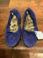 "Sam Edelman ""Felicia"" Blue Leather Suede Ballet Flats, Size 9 (US)"