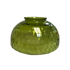 """Green Dome Thumbprint Optic Glass Lamp Shade - 6"""" Fitter"""