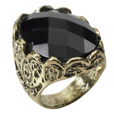 Medieval Fantasy - Black Stone Ring / Game of Thrones Accessory