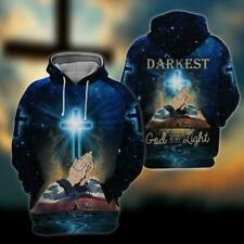NEW Christian At My Darkness God Is My Light 3D Hoodie 3D Best Price US Size