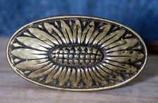 ANCIEN BOUTON POIGNÉE DE PORTE BRONZE XIX éme siècle ( L 6.5 cm H 5 cm )