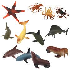 12x Multi-colors Lifelike Plastic Kids Toy Model Sea Animal Figures Toys