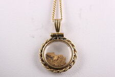 22K FINE GOLD NUGGET ORE- INSIDE A VINTAGE120/12 KGF PENDANT NECKLACE #1421