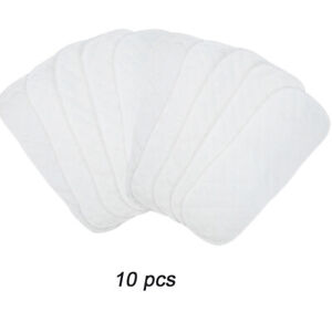 Lot to 40pcs Cotton Nappy Baby Diapers Insert Liners 3 Layers Reusable Newborn