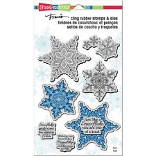Stampendous Stamp & Dies Set - Winter White - Snowflakes