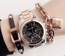 Original Michael Kors Reloj Mujer MK6093 Blair Color: Rosa Dorado/Plata Nuevo