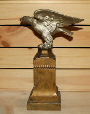 Vintage hand made metal eagle statuette