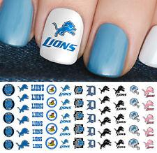 Detroit Lions Football Nail Art Decals - Salon Quality!