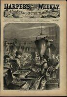 Making Rifle Cartridges Firearms Industry Women Workers 1877 wood engraved print