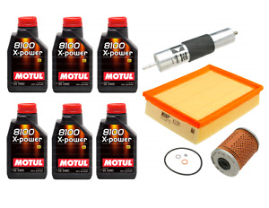 Service Kit: 6L Engine Oil 10W60 + Fuel, Air & Oil Filters for BMW E46 M3 Z3 M