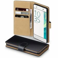 Xperia XA Case - Terrapin Sony Xperia XA Leather Wallet Case - Card Slots - Bill