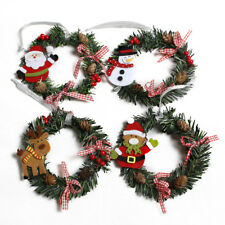 mini christmas wreath decor wall door hanging ornament garland xmas party decor - Christmas Garland Decorations Sale