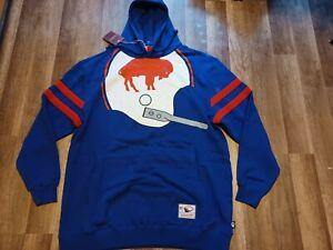 Mitchell And Ness Buffalo Bills NFL Big Face Historic Logo Hoodie Men's Sz 2XLT