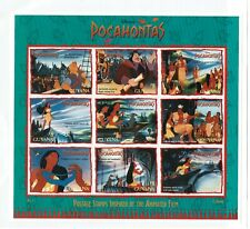 GUYANA, DISNEY, POCAHONTAS, SOUVENIR SHEET, 9 STAMPS, 1995