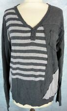DESIGUAL Tee shirt/Polo Homme Taille XL - Manches longues - Gris