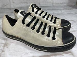 CONVERSE Metallic Gold Leather + Black Sneakers   Mens 9.5, Womens 11.5 #20574