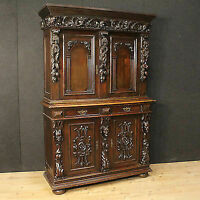 Cupboard carved sculpted sideboard wood decorations furniture antique style 900