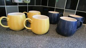Set of 6 Mason Cash Mugs Cups - in lovely condition with no damage