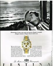 Publicité Advertising 1991 La Montre Chronographe Sport Festina