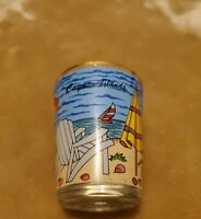 NEW shot glass from Cayman Islands beach colorful wrap travel souvenir