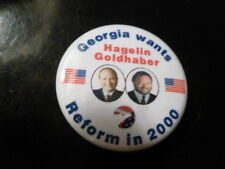 Georgia Reform Party Pin Back Presidential Political Campaign Button Hagelin