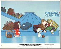 PEANUTS Charlie Brown Snoopy Bon Voyage Charlie Brown 1980 lobby card