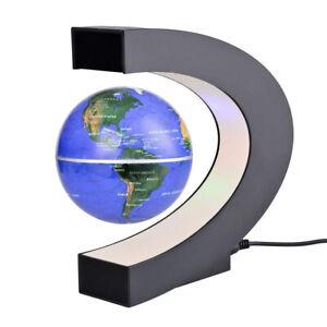 C schwarz blau LED Welt Karte schwimmende Kugel Dekoration Magnetschwebebah Heiß