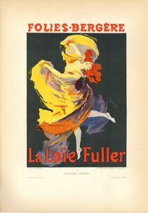 """1896 """"Folies-Bergére"""" stone lithograph – Jules Chéret ��� Les Affiches Illustrées"""
