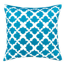 "Arabesque Teal 18"" / 45cm Outdoor Water Resistant Scatter Cushion Garden"