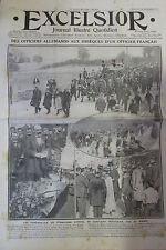 ALSACE SAINTE MARIE AUX CHENES OBSEQUE OFFICIER MILITAIRE EXCELSIOR SEPT 1911