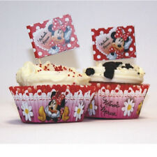 48 Piece Disney Minnie Mouse Polka Dots Paper Cup Cake Cases & Flag Picks Set