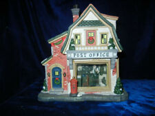 """Norman Rockwell """" Post Office """" Christmas Village House * Rare *"""