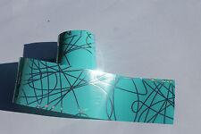 """Lagoon"" TURQUOISE transfer nail art foil - 1 meter"