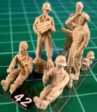 Milicast FIG042 1/76 Resin WWII German Flak Crew No. 4 (Optional Heads)