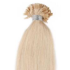 "20"" Pre Bonded Nail U Tip Keratin Glue Remy Human Hair Extensions 613#Blonde"