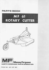 Massey Ferguson MF61 Rotary Cutter Mower Parts manual