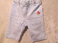 "Gymboree ""Strawberry Patch"" Light Blue Strawberry Pants, 3-6 mos."