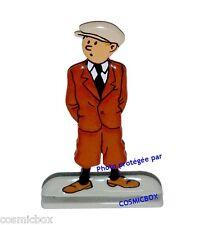 Figurine tintin costume brown metal statuette statue figure figuren figurilla