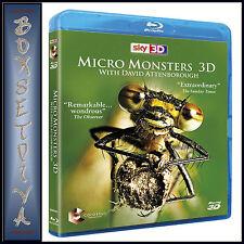 MICRO MONSTERS 3D - DAVID ATTENBOROUGH *BRAND NEW  BLU-RAY *
