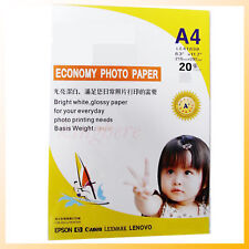 New 20sheets A4 Glossy Economy Photo Paper for Inkjet Hot
