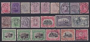 Belgium 1919/23 Nice lot of 22 used stamps - Selected Perfins & cancels....X2968