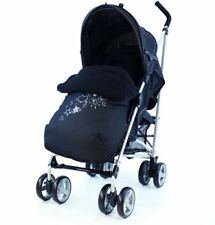 Zeta Vooom Black Pushchairs Single Seat Stroller