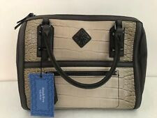 Kohl's SIMPLY VERA WANG Brown Croc Faux Leather Shoulder Hand Satchel Bag NWT